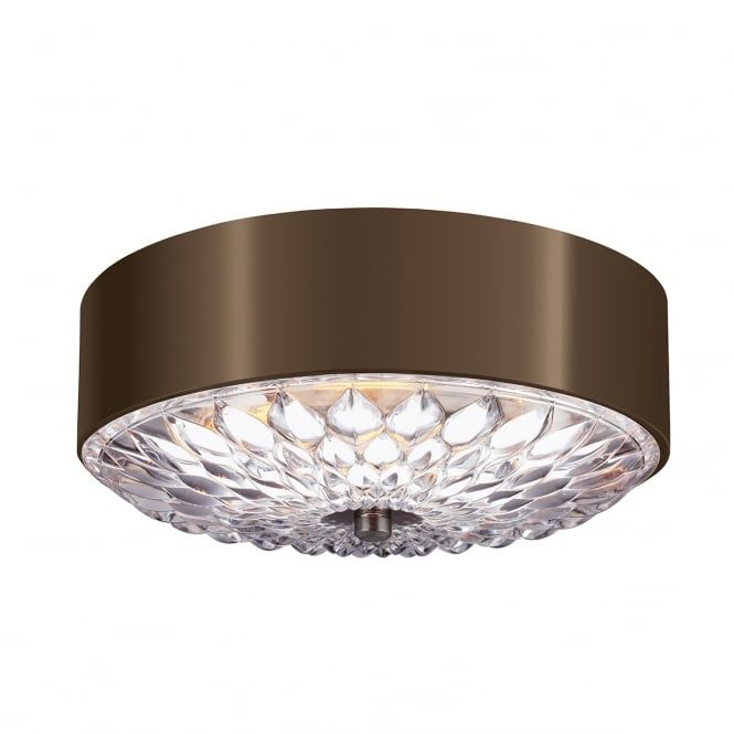 A decorative flush fit ceiling light with a spun metal drum a decorative flush fit ceiling light with a spun metal drum surround in a dark aged mozeypictures Choice Image