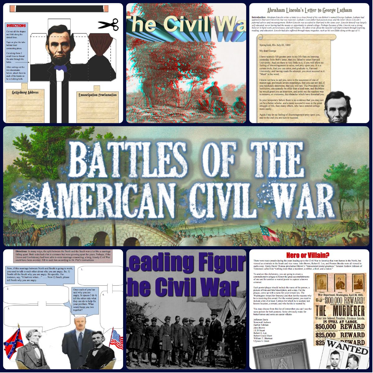 Complete Civil War And Reconstruction Unit Bundle