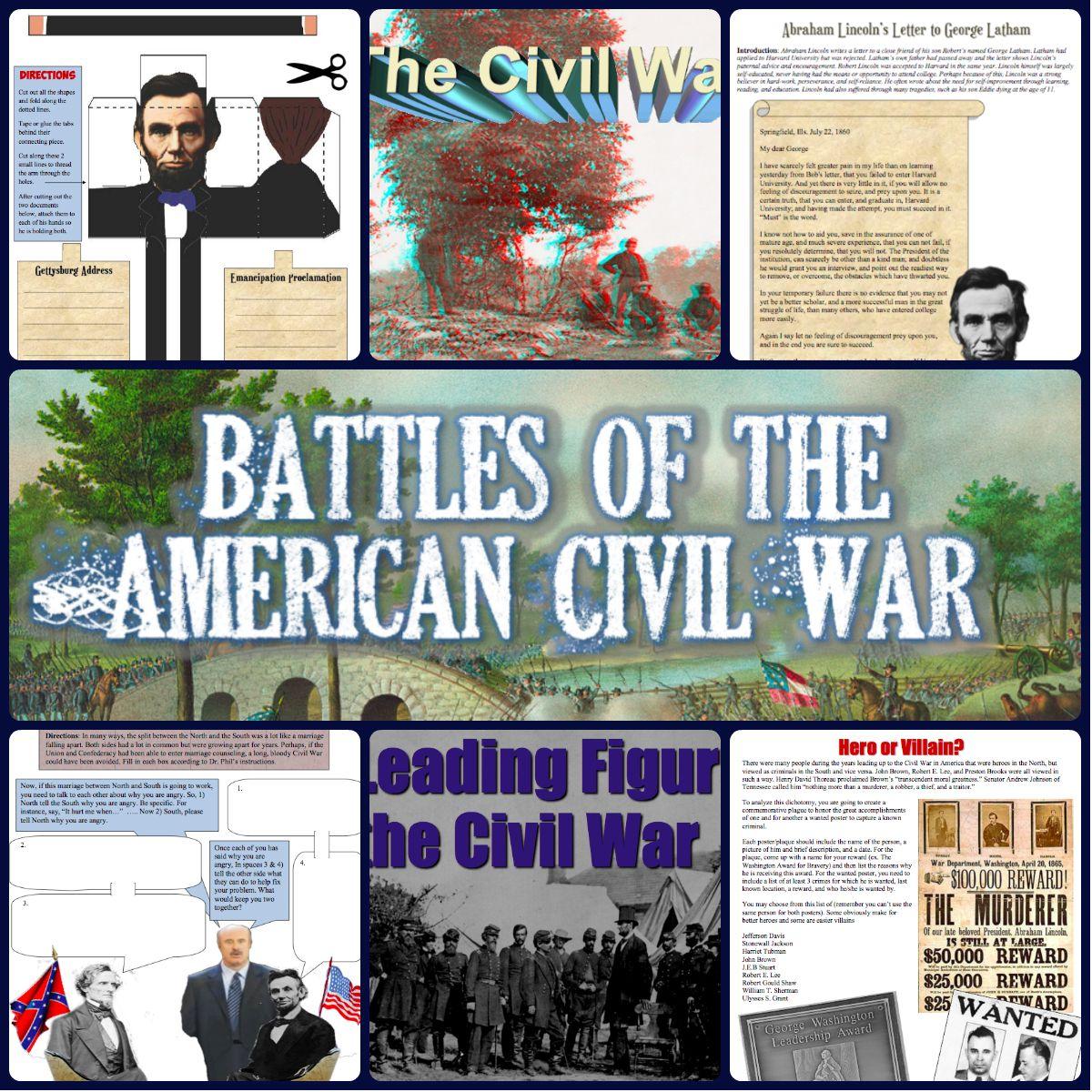 Complete Civil War And Reconstruction Unit Bundle