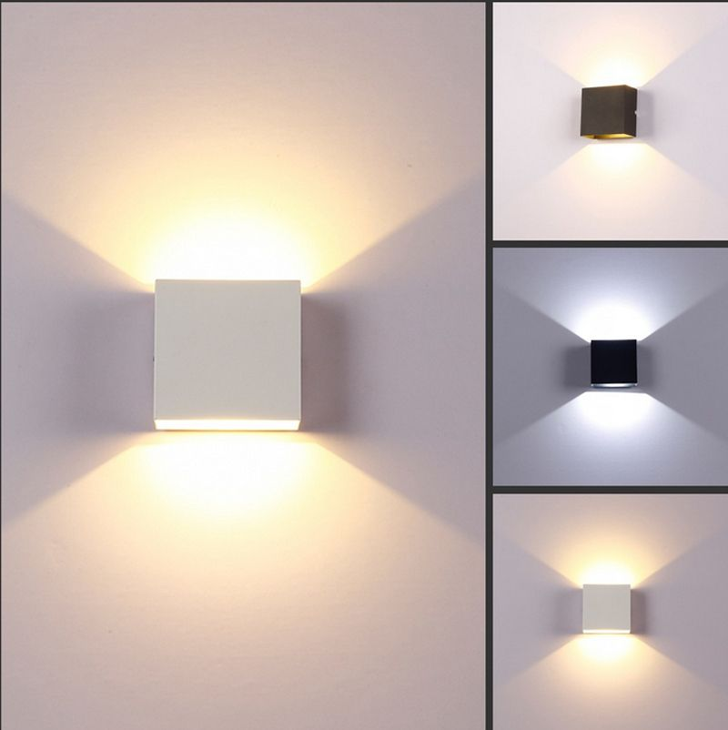 Indoor 6w Dimmable Led Wall Lamps Ac100v 220v Aluminum Decorate Wall Sconce Bedroom Led Wall Light Warm Wall Lamps Living Room Led Wall Lamp Indoor Wall Lights