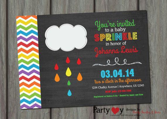 Baby Sprinkle Invitation Chalkboard Baby By PartyInvitesAndMore