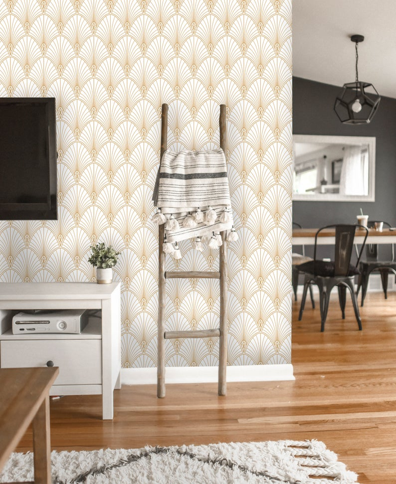 Removable Wallpaper Peel and Stick Geometric Wallpaper