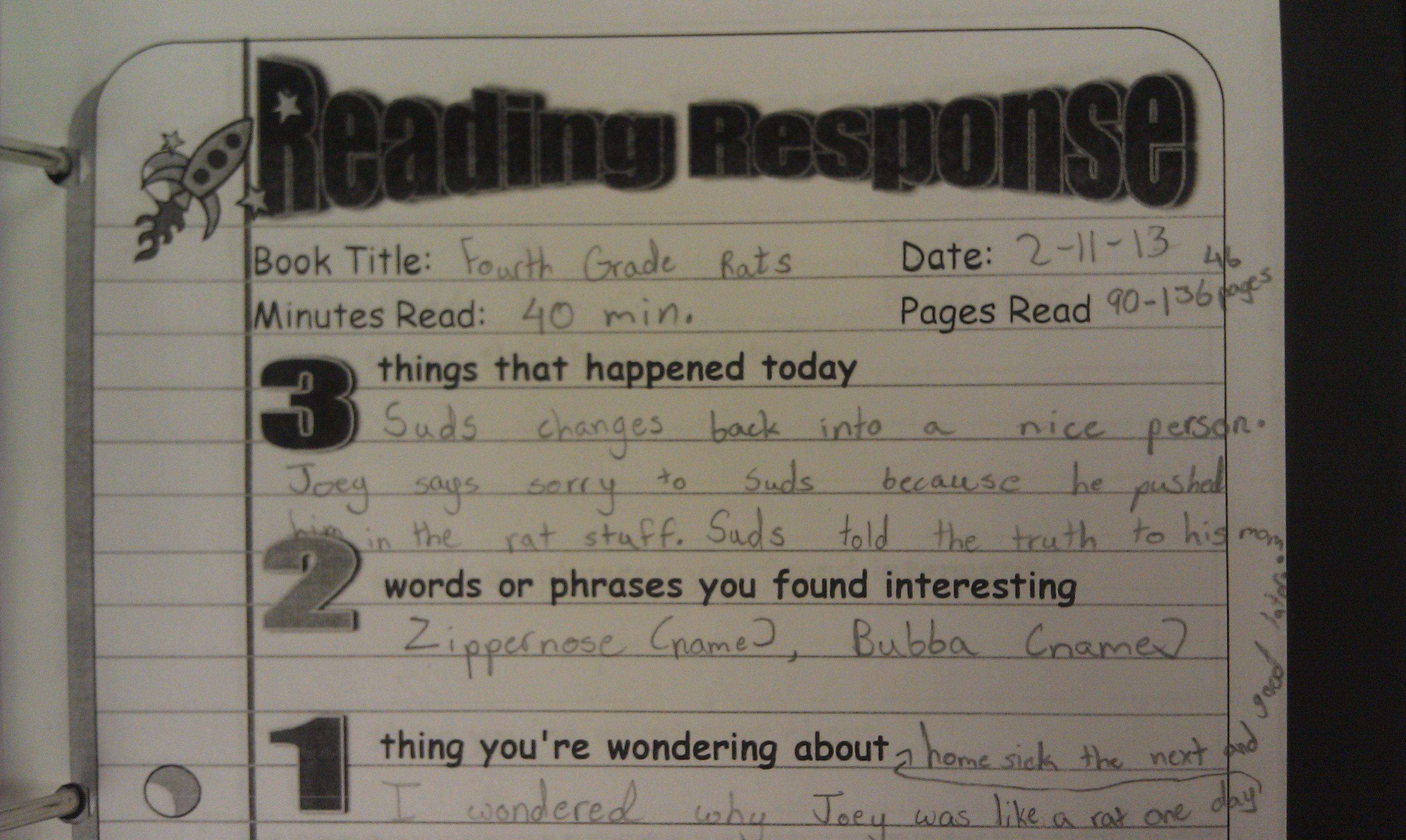 Five Minute Reading Responses | Scholastic.com