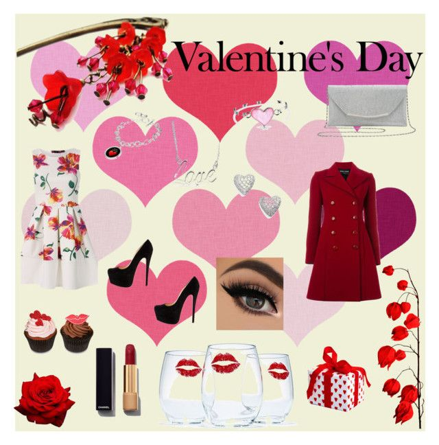 """""""Come Valentine's Day"""" by laurapoly01 ❤ liked on Polyvore featuring beauty, M&Co, Bling Jewelry, Nadri, Emporio Armani and Chanel"""
