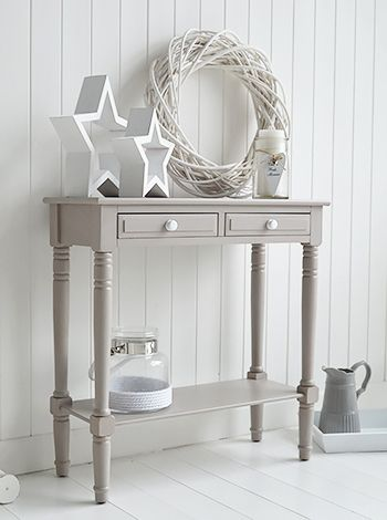 Oxford Grey Small Console Table Storage Living Hall And Bedroom