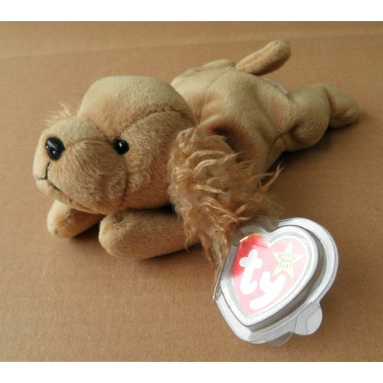 TY Beanie Babies Spunky the Cocker Spaniel Dog Stuffed Animal Plush Toy - 7  inches long - Brown     Read more at the image link. (This is an affiliate  link) ... 37b21ce43d0