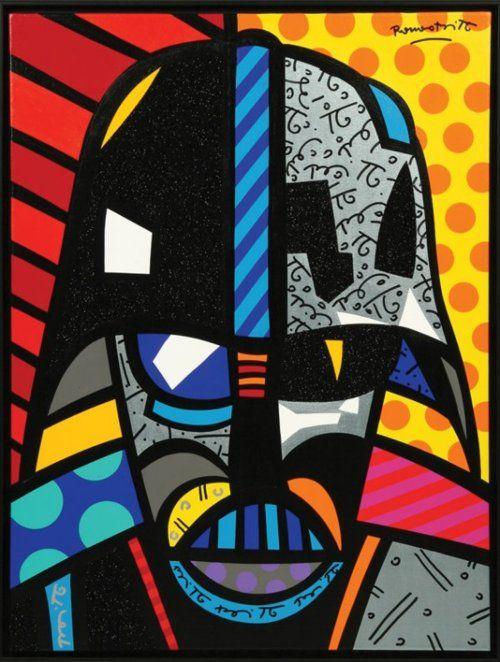 Darth Vader Por Romero Britto Like Pinterest Darth Vader Star