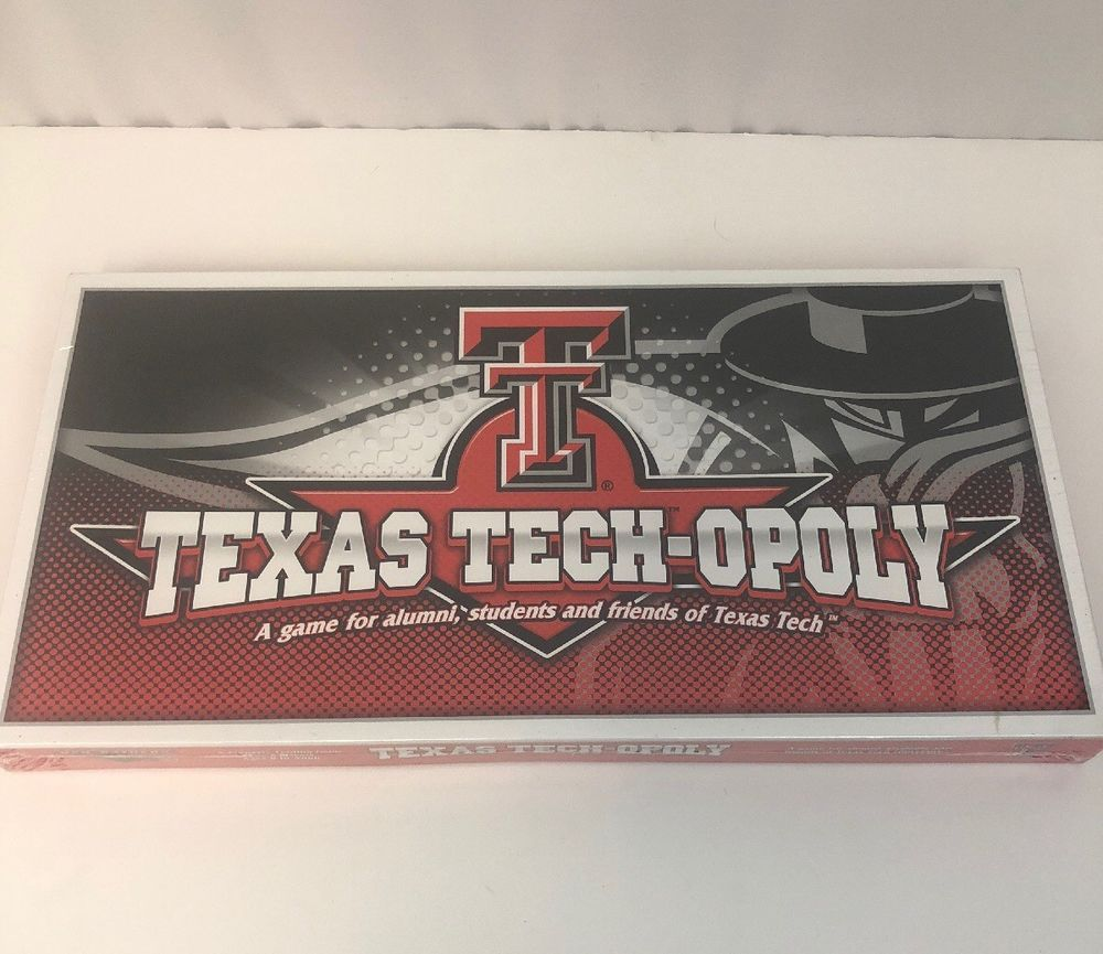 80fbfe1d Details about New Texas Tech-Opoly Game Property Trading Game TT ...
