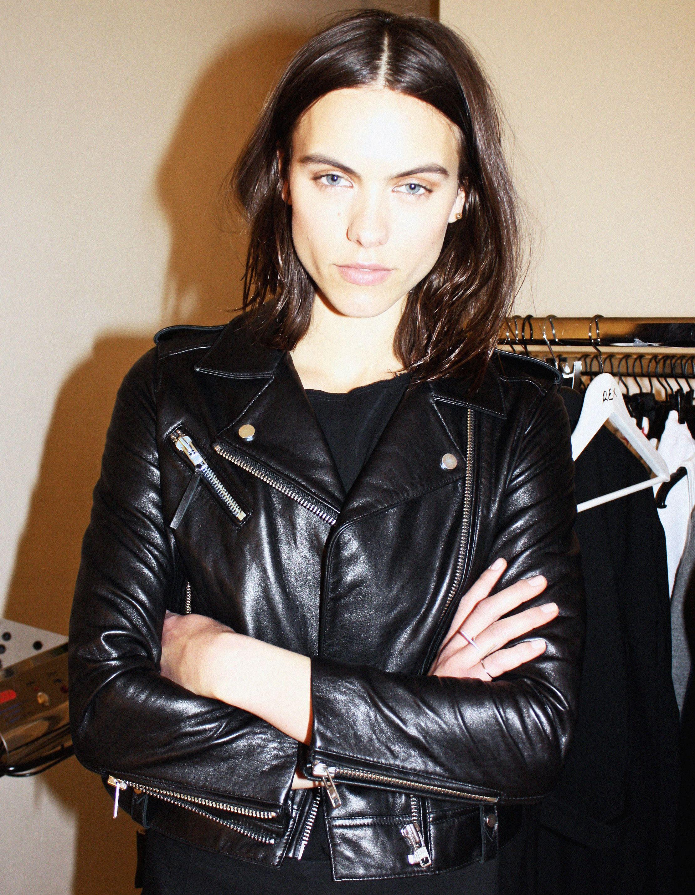 Leather jacket instagram - Model Corinna Ingenleuf In Upcoming Biker Jacket Instagram Weekday_stores