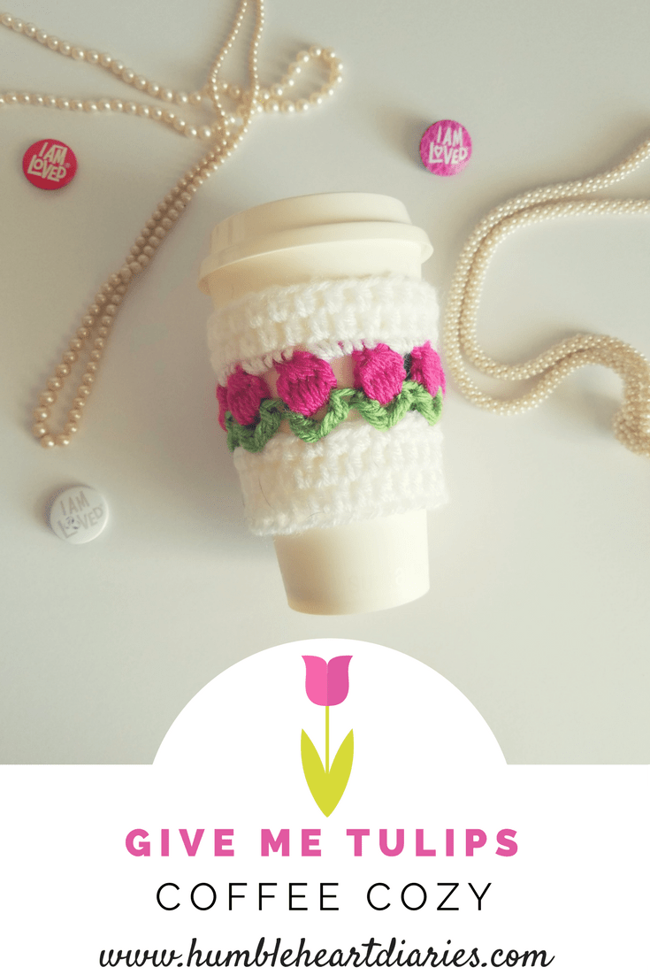 Tulips Coffee Cozy | Knitting & Croche | Pinterest | Puntadas ...