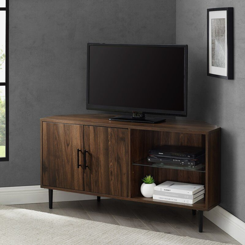 Olney Corner Tv Stand For Tvs Up To 55 In 2020 Corner Tv Stands
