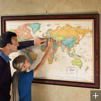 Magnetic travel maps travel maps future and playrooms magnetic travel maps frontgate gumiabroncs Gallery