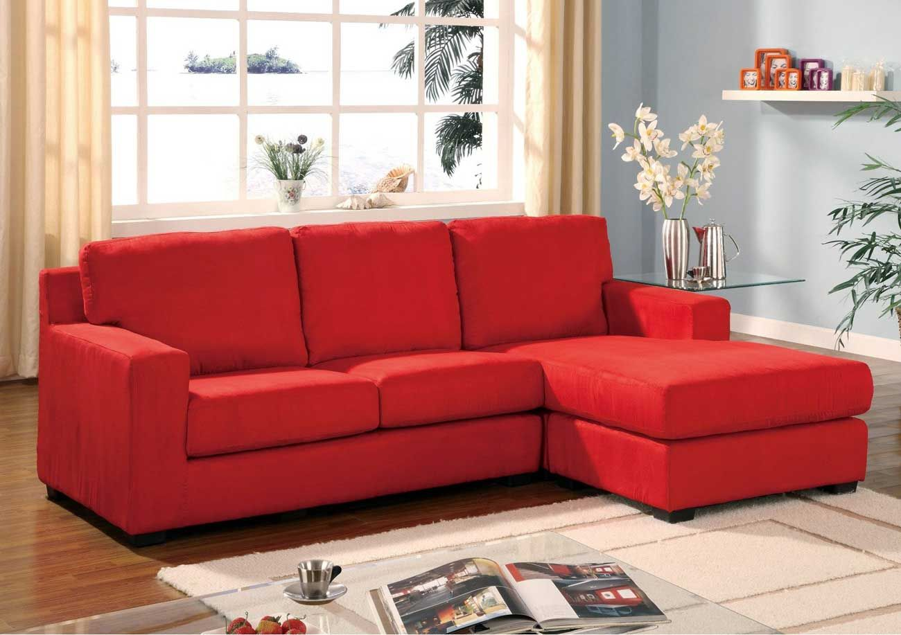 Comfortable Microfiber Sofas To Add Interest For Your Home Eyecatching Red Sectional Sofa In Beautiful Living Room Design With Gl Top Coffee
