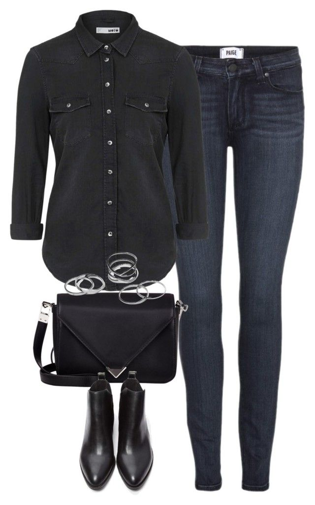 """""""Untitled #3678"""" by keliseblog ❤ liked on Polyvore featuring Paige Denim, Topshop, Alexander Wang and Forever 21"""