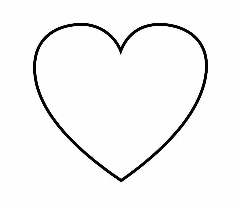 Heart Coloring Pages Simple Page Free Printable Magnificent For Kids -  Coloring.jurnalistikonli… Shape Coloring Pages, Heart Coloring Pages,  Flower Coloring Pages