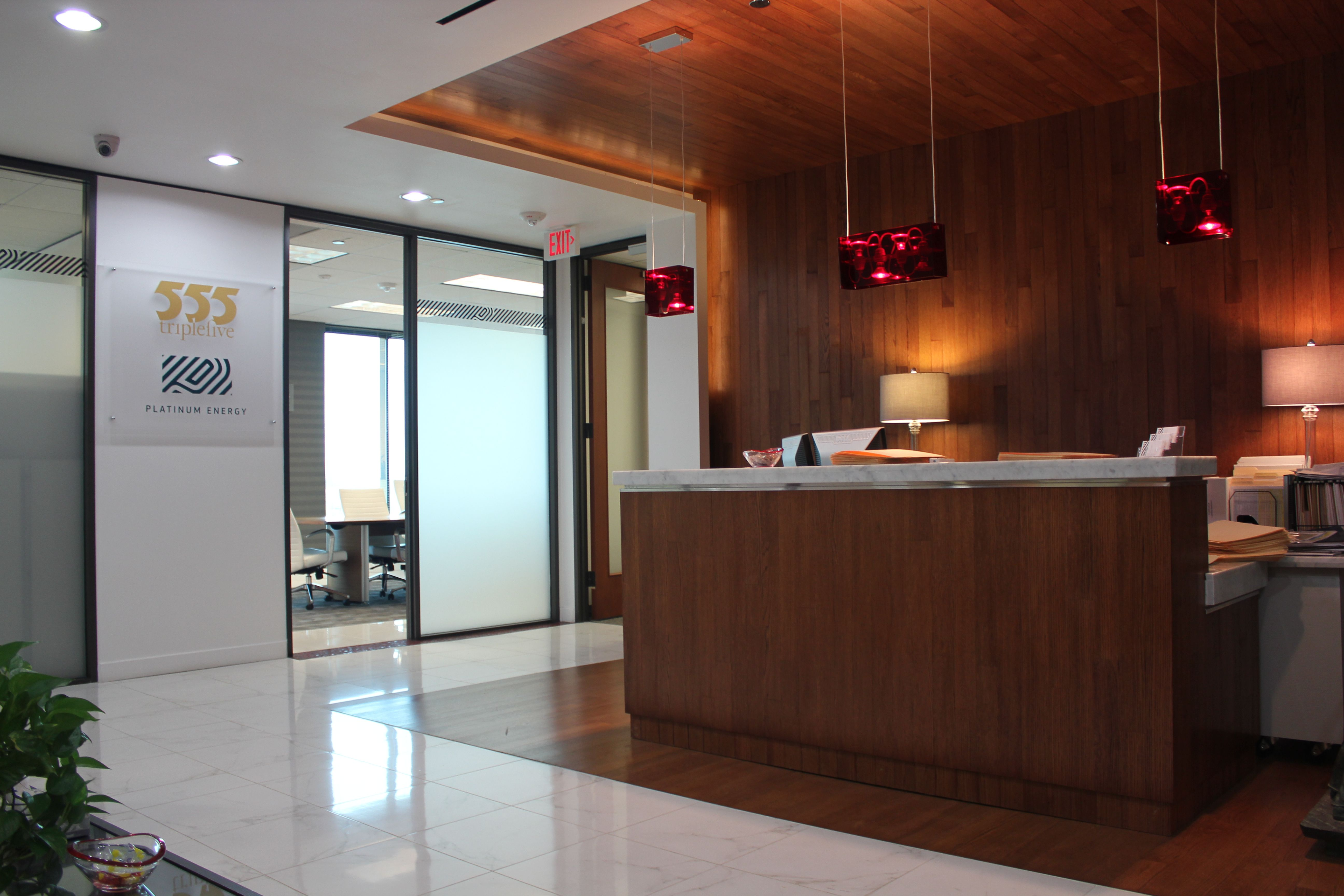 Platinum Energy offices. Custom commercial space. www.builtbyhabitat.com