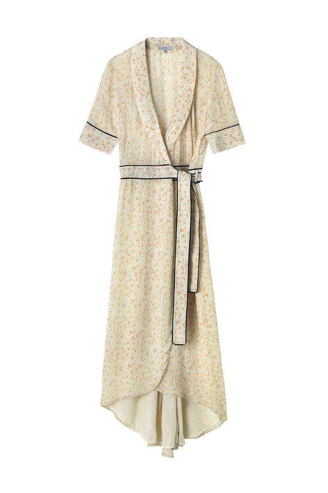 Clermont Georgette Wrap Dress, Meadow Flowers | Tøj, Kjoler