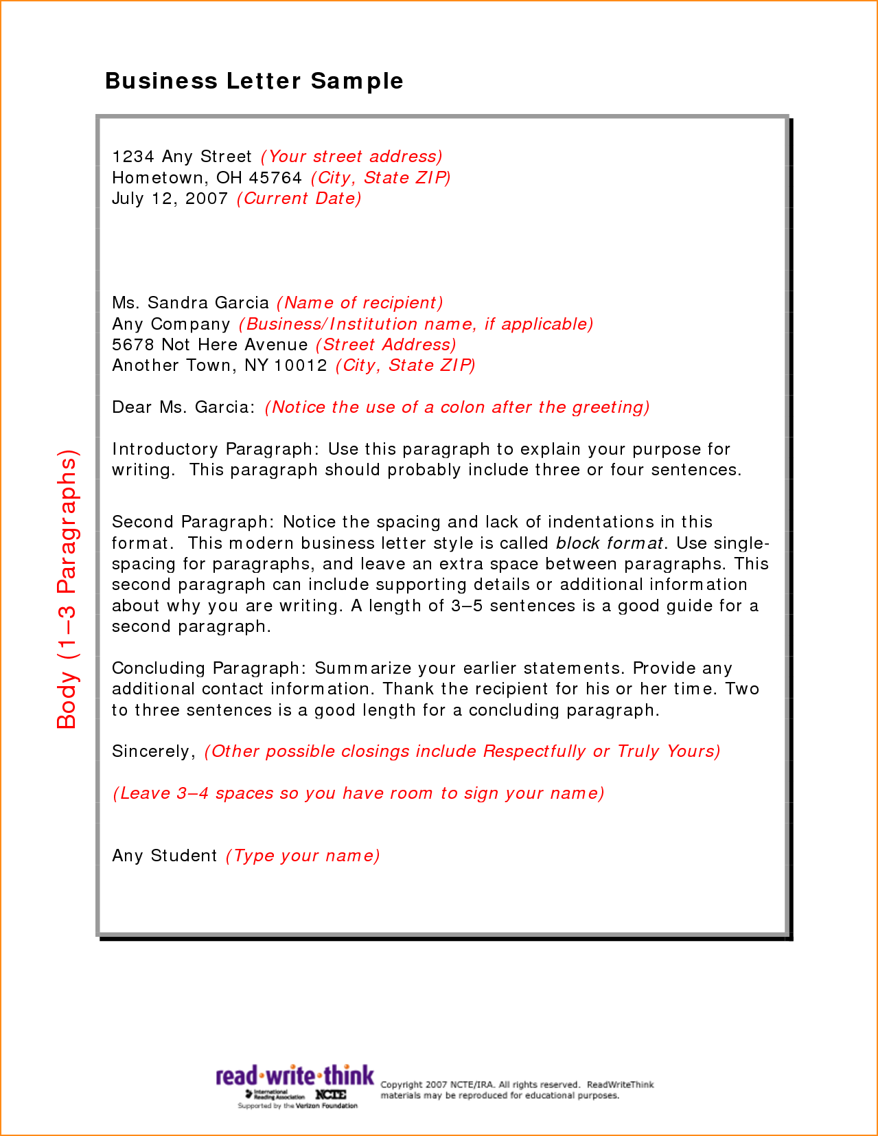 Friendly Letter Format Basic Job Appication Greeting Examples Write