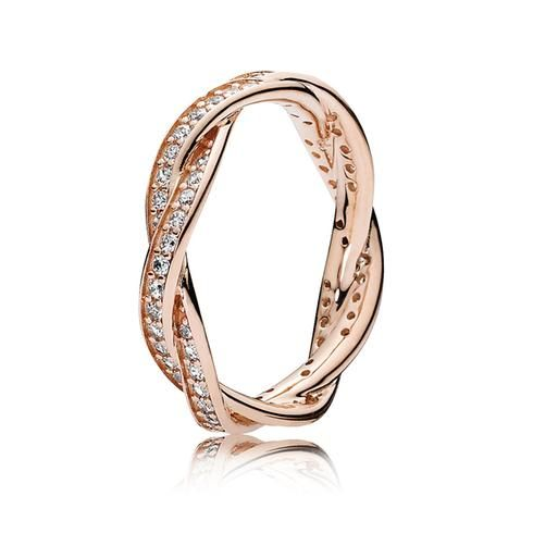 PANDORA Rose Twist of Fate Ring with Clear Cubic Zirconia ...