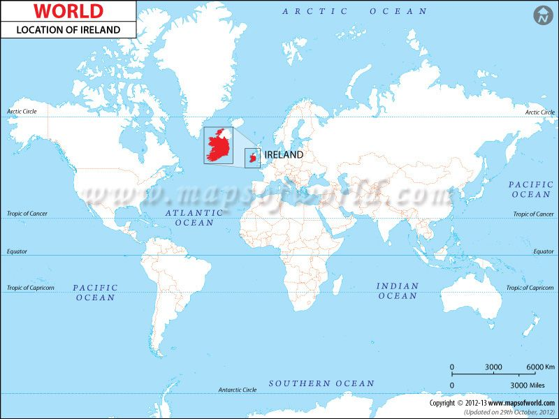 Ireland Location Map | Location map, Map, Country maps
