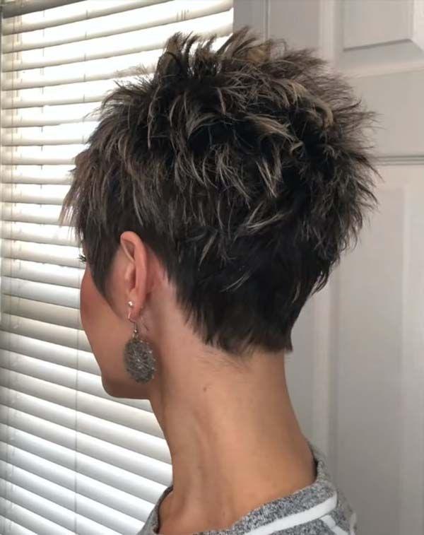 Modern Short Pixie Hairstyles for Mature Women