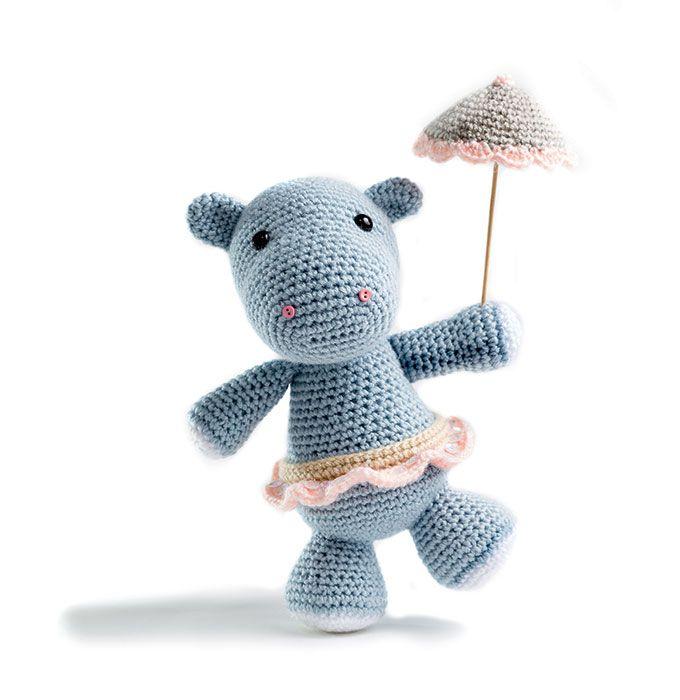 Tuto crochet : faire un amigurumi hippopotame | Crochet and Knitting ...