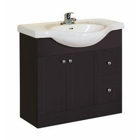 Magick Woods X Dark Chocolate Euro Bath Vanity With Top - 36 x 19 bathroom vanity for bathroom decor ideas