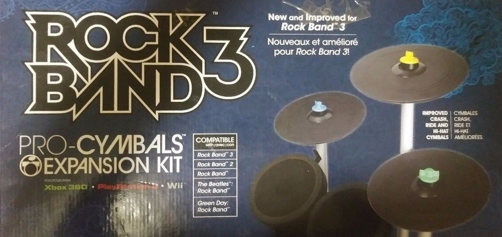 Rock Band Pro-Cymbals Expansion Drum Kit Universal Use Wii Xbox 360