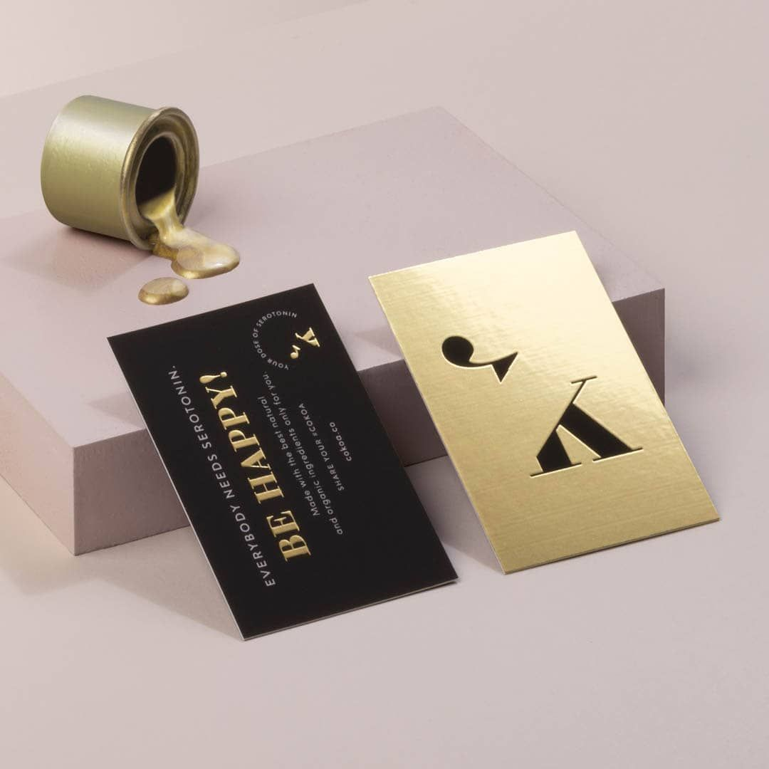 gold foil business cards moo