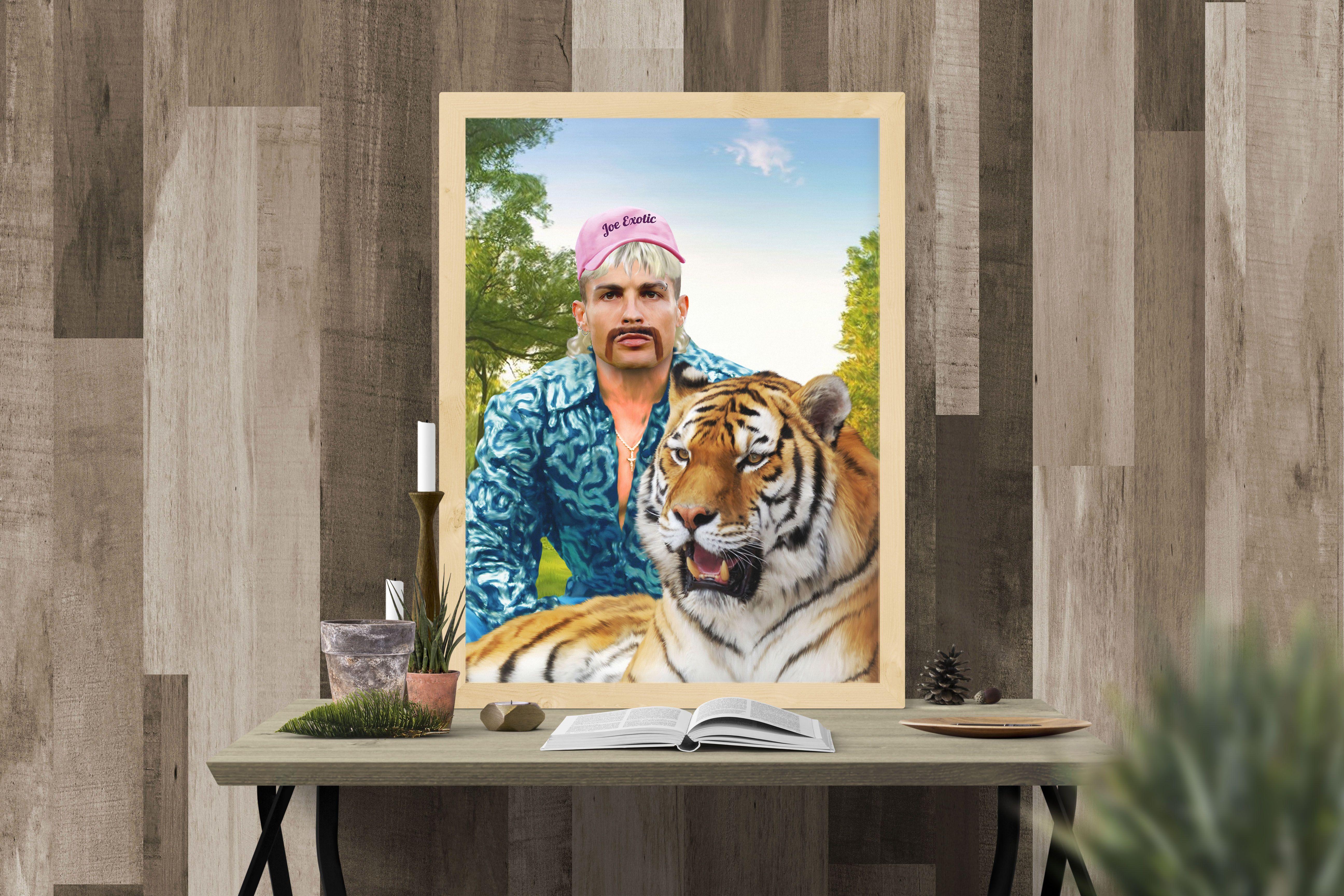 Pin On Tiger King Custom Portrait