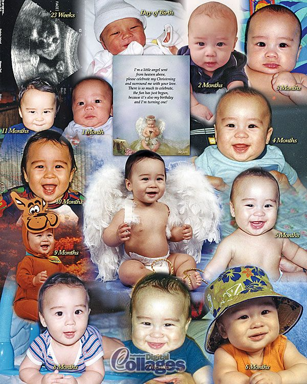 Baby Photo Timeline Collage. Looking for an idea of what to do ...