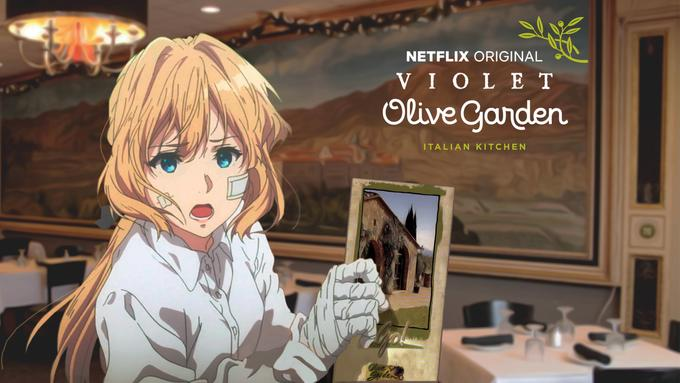 Violet Olive Garden Violet Evergarden Violet Evergarden Anime Violet Evergreen Violet