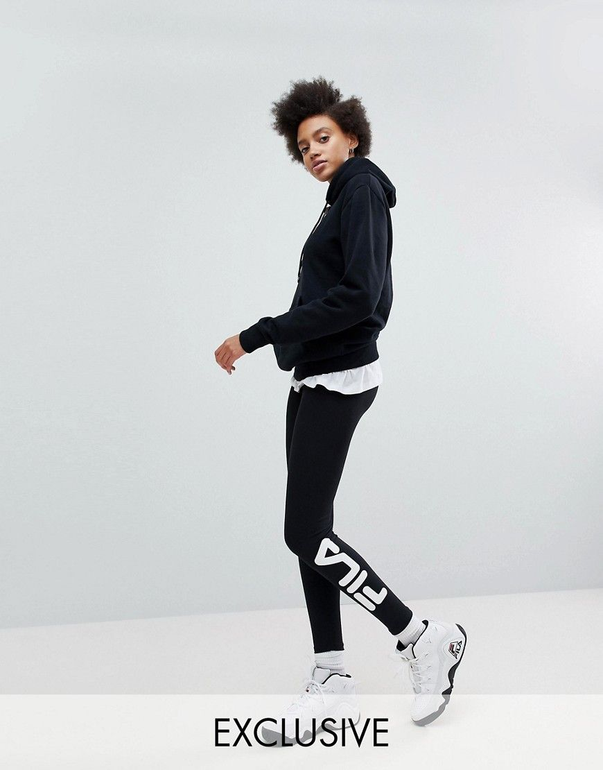 01abed90695bf Fila essential leggings with ankle logo | Products | Leggings, Logos ...