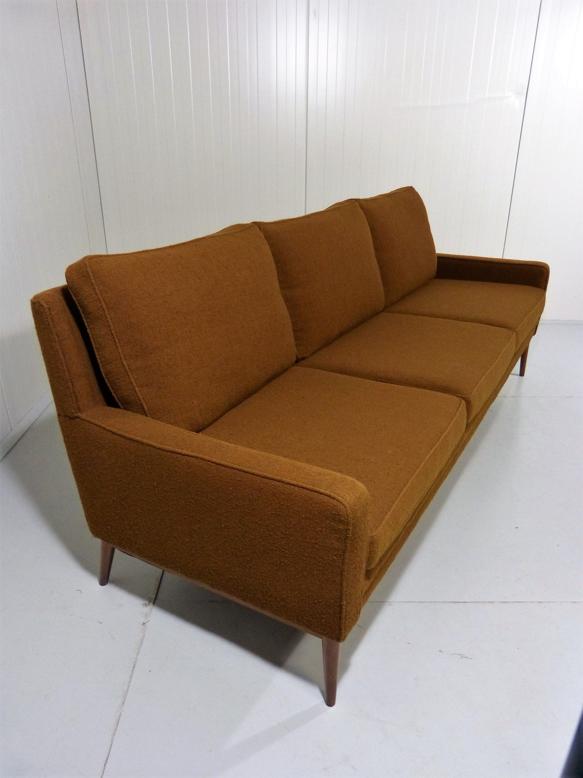 Best Danish Brown 3 Seater Mid Century Sofa Mid Century Sofa 400 x 300