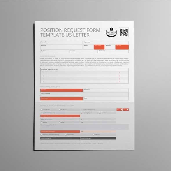 Position Request Form Template US Letter CMYK \ Print Ready - change request form