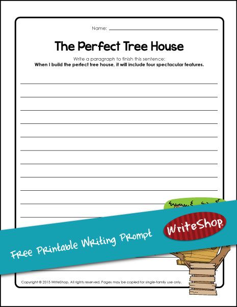 Tree House Writing Prompt With Images Free Writing Prompts
