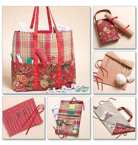 Mccalls Pattern 4728 Knitting Bag And Needle Case I Hate The