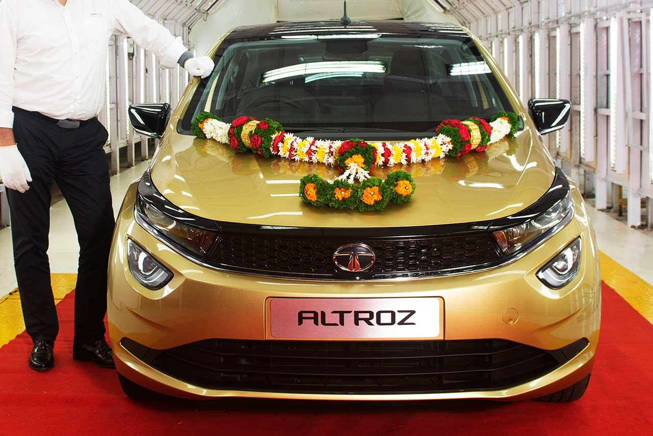 The First Tata Altroz Rolls Out From Tata Motors Pune Plant With