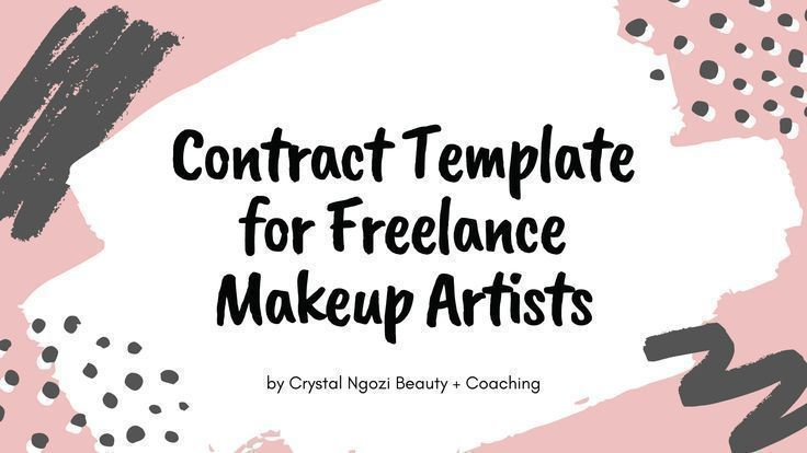 Freelance makeup artist contract template crystal ngozi