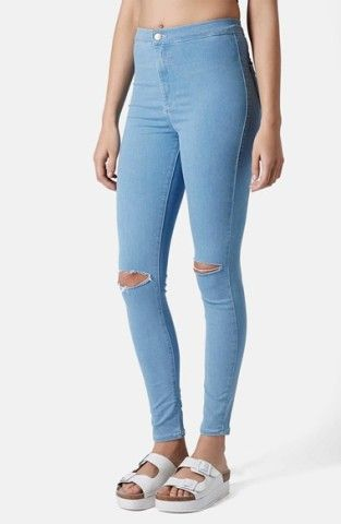 Topshop Moto 'Joni' Ripped High Rise Skinny Jeans (Light Denim) (Regular & Short) | Nordstrom, How would you style thesE? http://keep.com/topshop-moto-joni-ripped-high-rise-skinny-jeans-light-denim-regular-and-short-no-by-shannonpro/k/01Mk6cgBFc/
