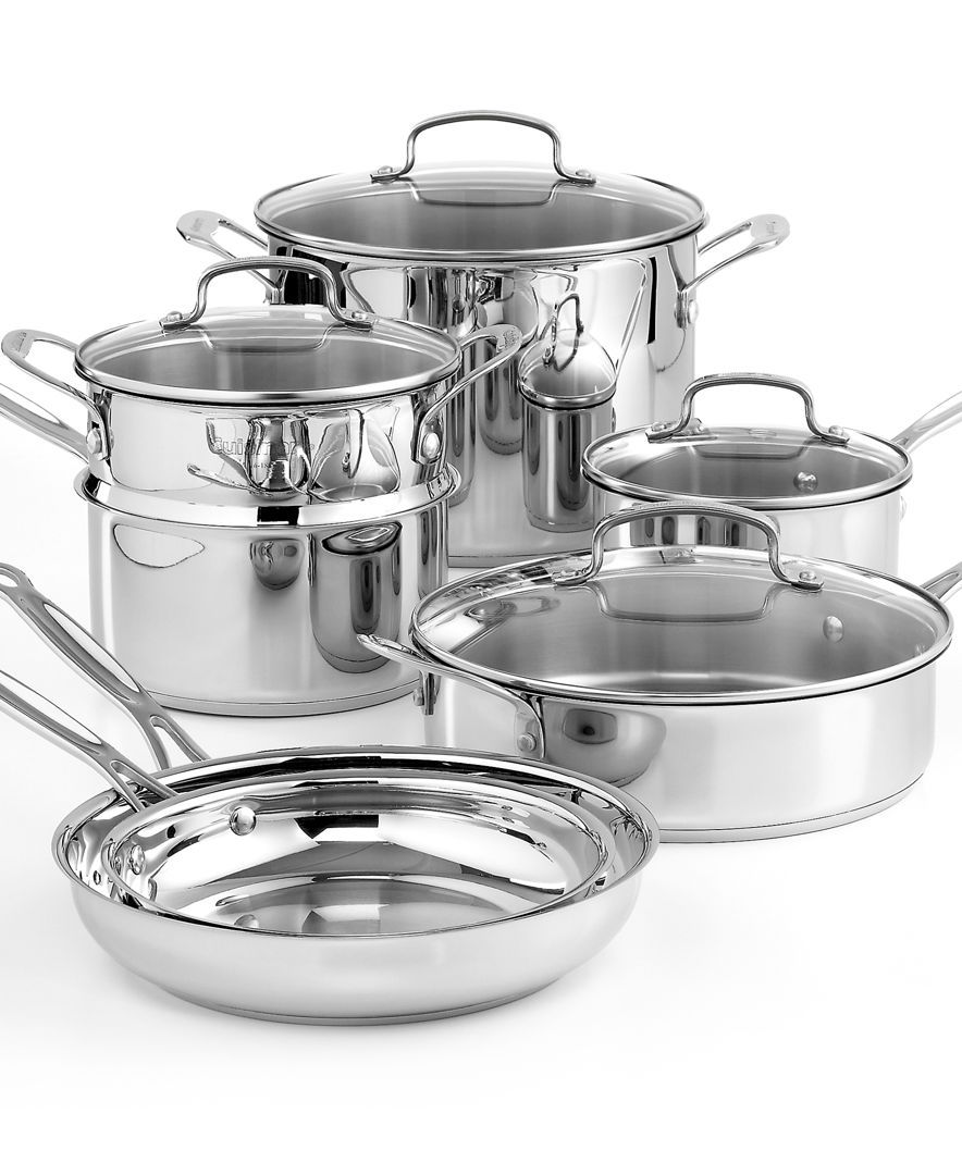 Cuisinart Chef S Classic Stainless Steel 11 Piece Cookware Set Cookware Kitchen Macy S Cookware Set Cookware Sets Stainless Steel Cookware Cuisinart 11 piece cookware set