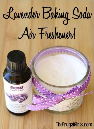 Lavender Essential Oil Baking Soda DIY Air Freshener! - from  TheFrugalGirls.com - freshen