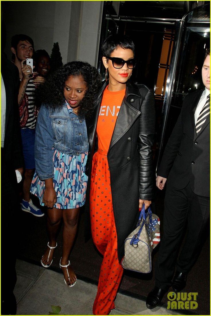 Chest Tattoo, Rihanna, Orange
