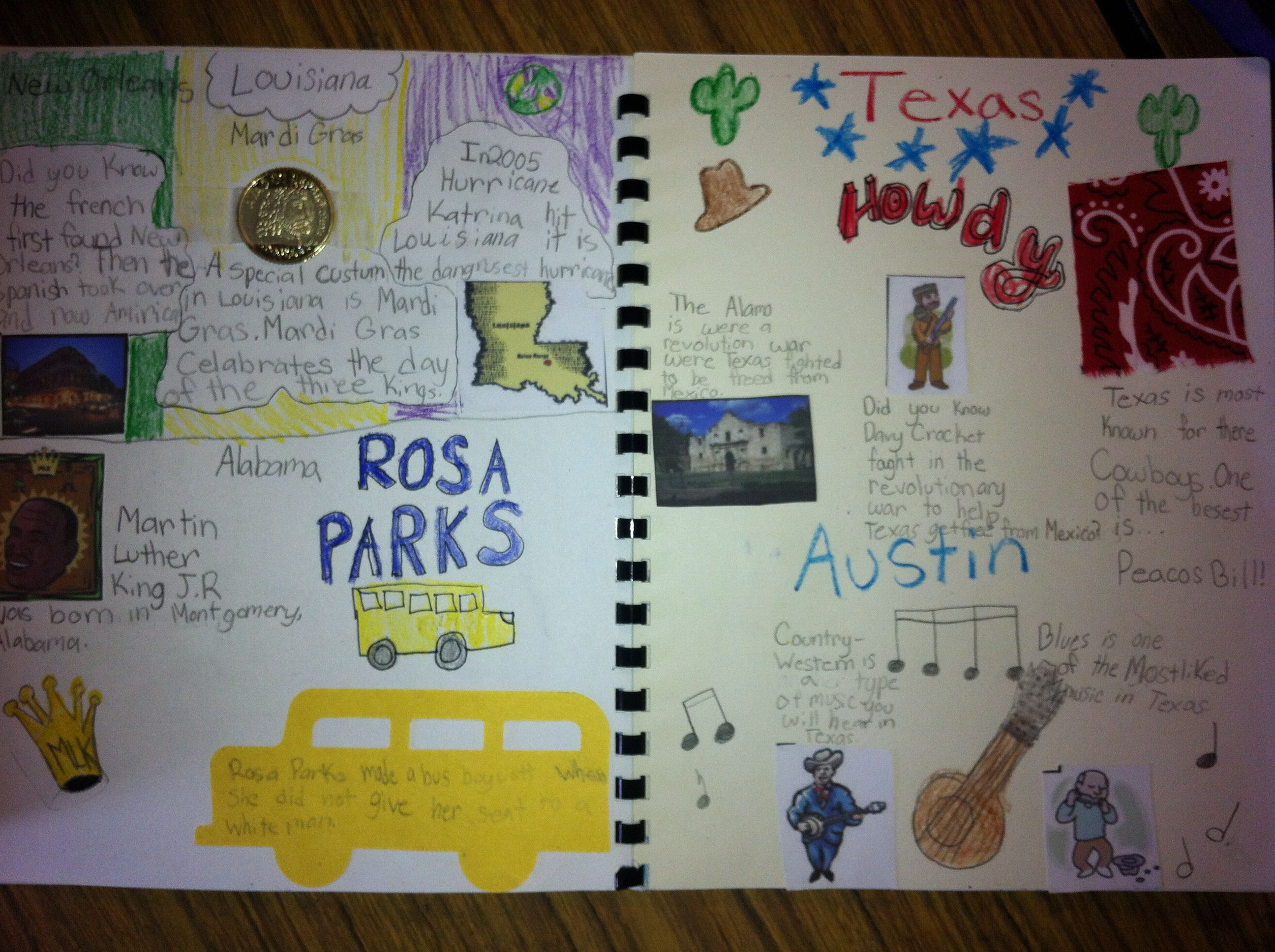 Scrapbook ideas history projects - Scrapbooks Created During U S Regions Study Image Only Can Do A Texas Regions Scrapbook
