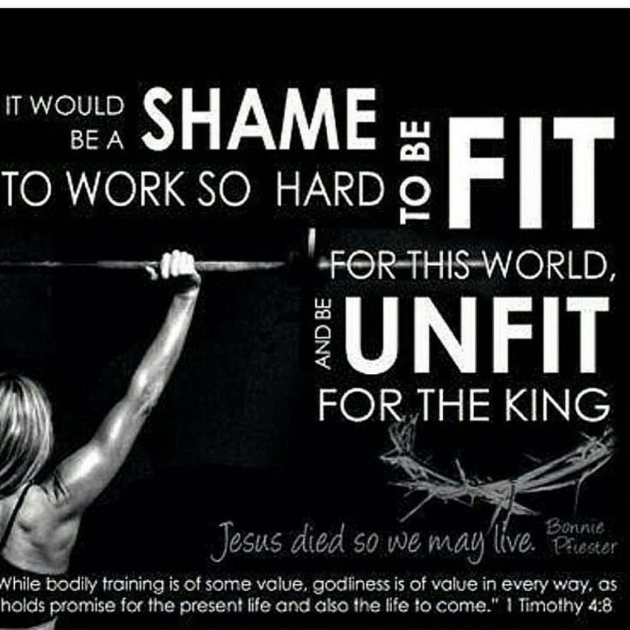 Be Fit For Jesus Fitness Goals Quotes Christian Fitness Fitness Quotes