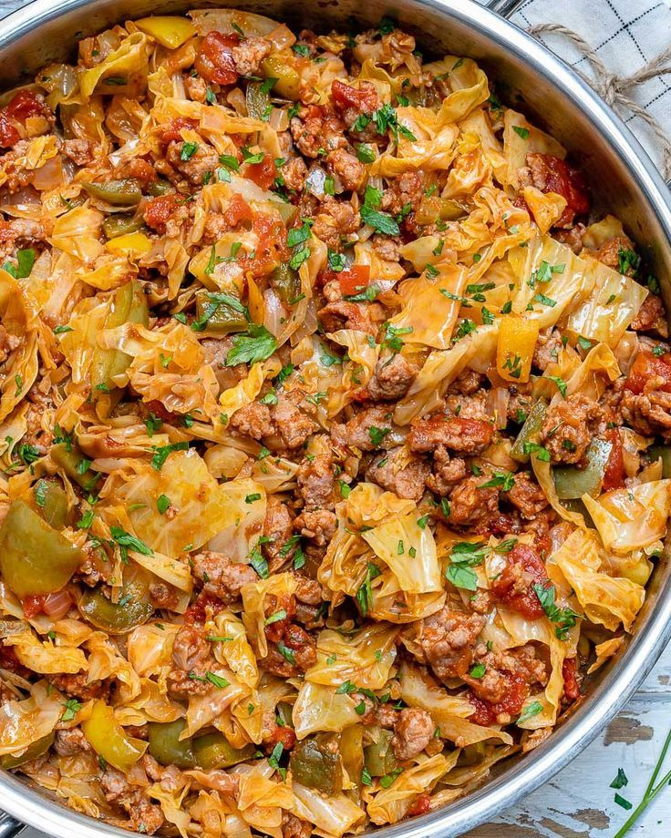 Easy onepan beef cabbage skillet recipe with images