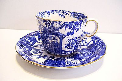 Royal Crown Derby Mikado Blue And White Cup Saucer Oriental Asian Bone China White Cups Crown Derby Royal Crown Derby