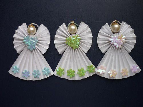 Origami Angel ornaments | Flickr : partage de photos !