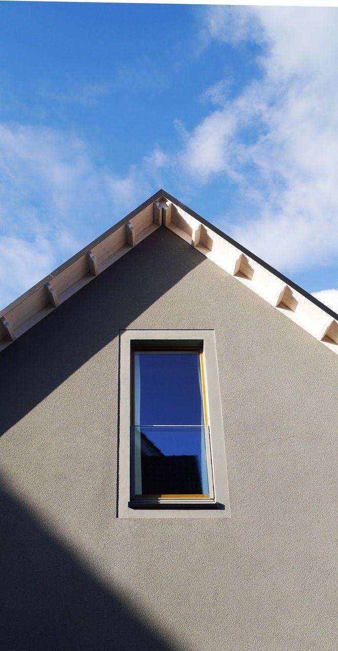Wohnhaus Mineralischer Rauputz Glattputz Architekturburo Achterkamp In Steinfurt Fassade Haus Fassadengestaltung Putz Fassade
