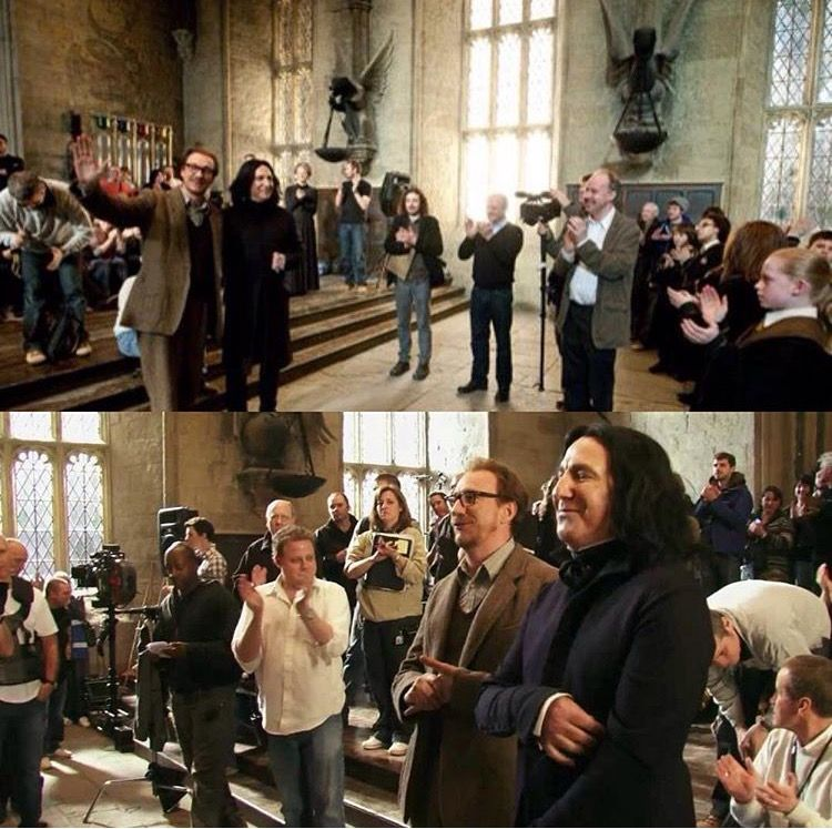 Lupin and Snape's last day on set